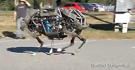 rennender Roboter