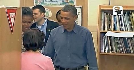 Obama und seine Bücherei