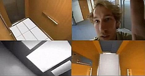 Fußboden im Fahrstuhl verschwindet – Prank