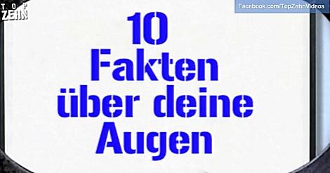 top 10 fakten über augen