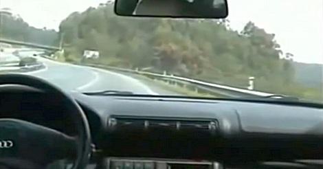 schnelle Reaktion auf der Autobahn