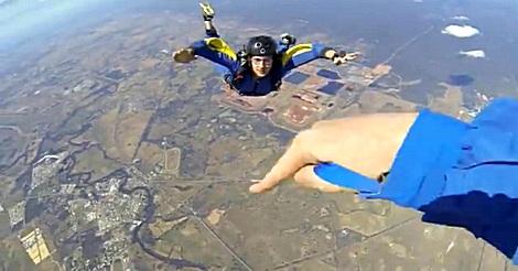 Fallschirmspringer ohnmächtig
