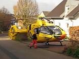Hubschrauber in der Einfahrt