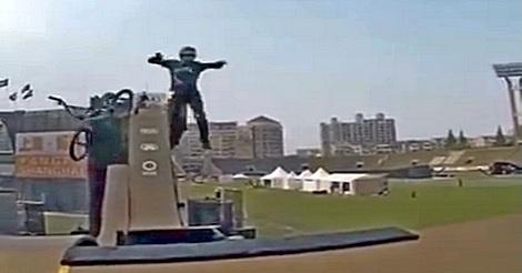Fahrrad Stunt - unglaublich
