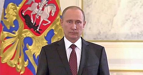 Wladimir Putin ist sprachlos