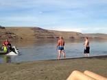 Motorboot Dusche