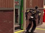 Roboter fallen um