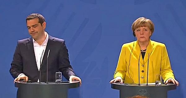 Kanzlerin Merkel und Tsipras sind sprachlos