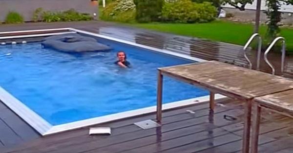 Pool Sprungbrett selbst gebaut – Fail