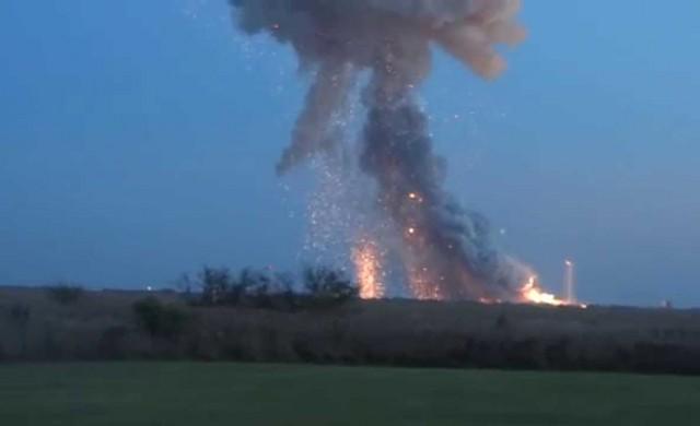 Antares Rakete explodiert beim Start