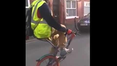 Fahrrad ohne Vorderrad