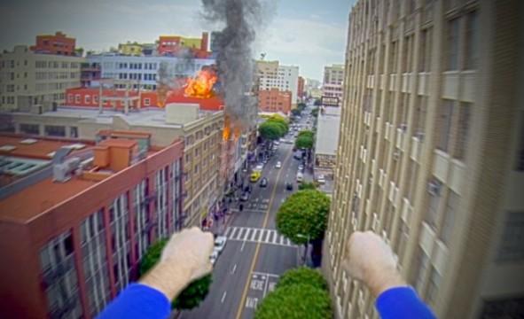 Superman mit GoPro