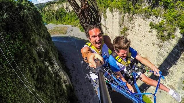 Bungee Wahnsinn im Gravity Canyon