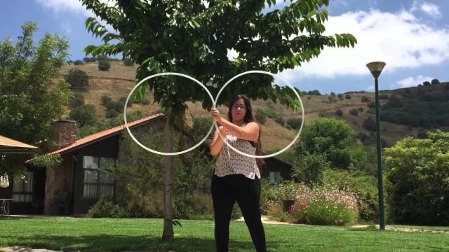 Golden hoop dance