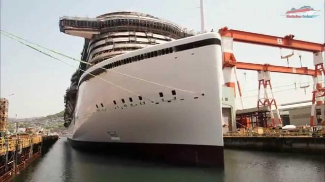 Schiffsbau im Zeitraffer – AIDA Prima