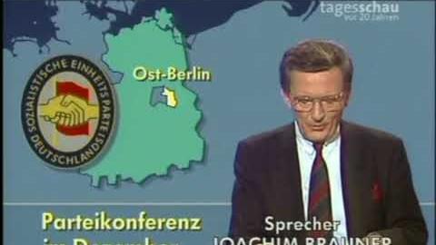 Tagesschau vom 9. November 1989