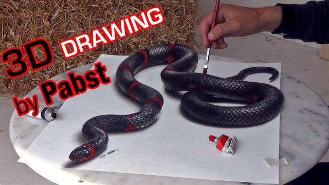 3D Painting – erstaunlich echt wirkende Schlange