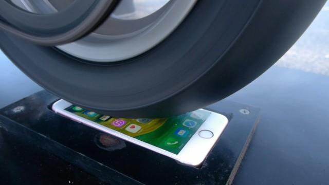 Burnout auf IPhone Display
