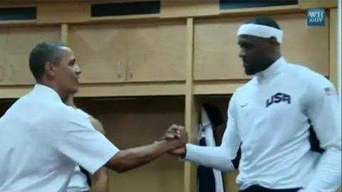 Obama und das Basketball-Team