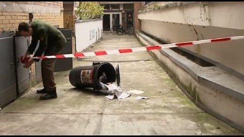 Abgetrennter Briefkopf in Mülltonne gefunden