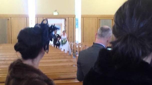 volle Pulle rein ins Hochzeitskleid