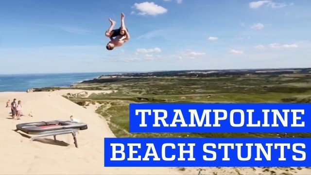 Trampoline stunts at the Beach! – People are Awesome