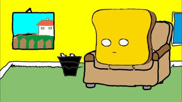 Mr Toast schaut TV