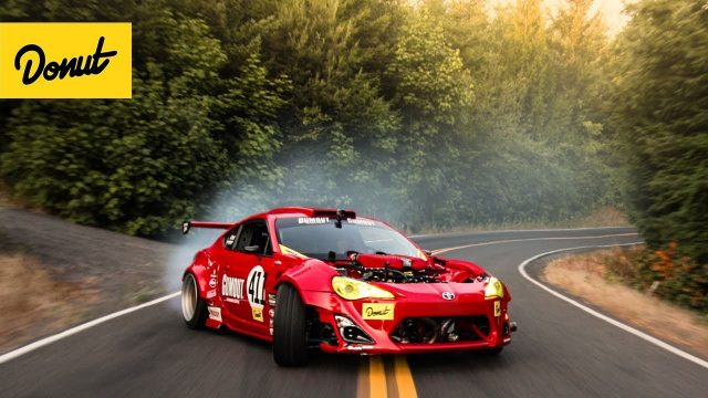 Ferrari-Powered Toyota drifts a Portland Touge