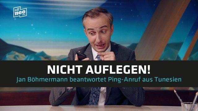 Jan Böhmermann beantwortet Ping-Anruf aus Tunesien
