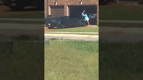 die Corvette des Nachbarn zerlegen…