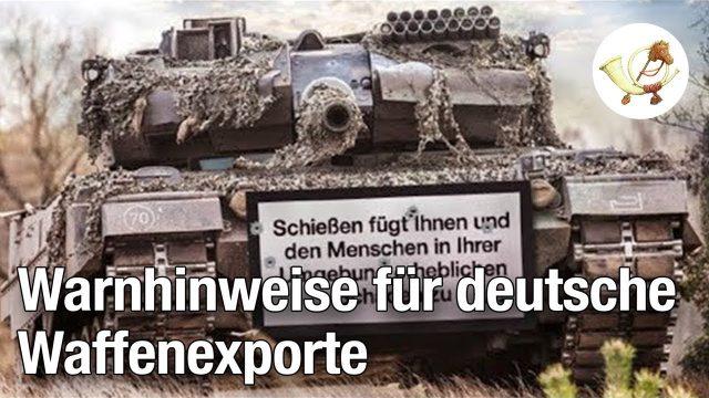 Regierung lässt deutsche Waffenexporte mit Warnhinweisen versehen [Postillon24]
