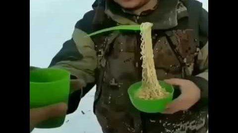 Frühstück in Sibirien