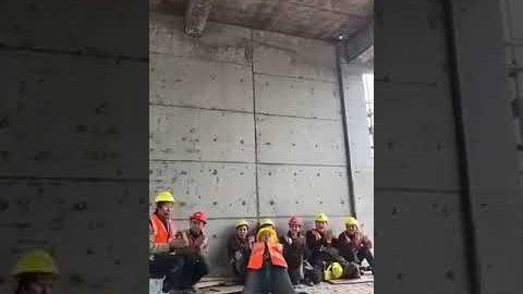 Breakdance Sensation auf der Baustelle