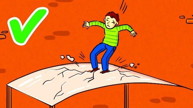 Wie man einen Sturz aus extremer Höhe überlebt