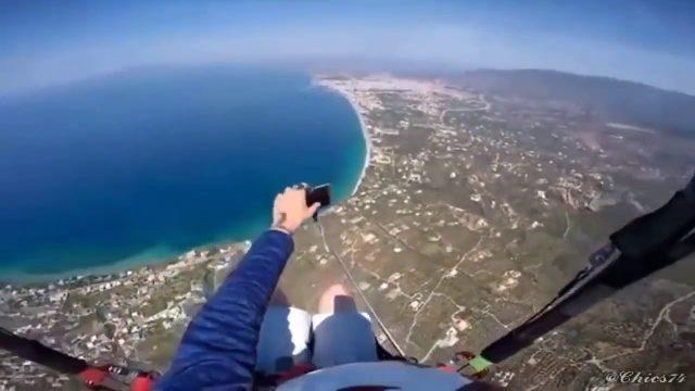 Selfie über den Wolken