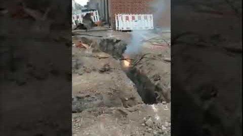 Strom-Brand auf der Baustelle